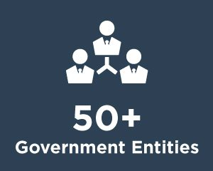 50+ Government Entities